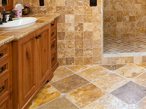 Travertine-bath