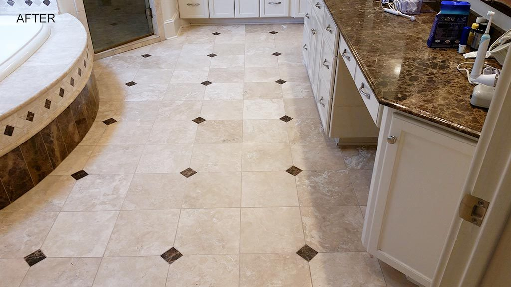 Bathroom Tile Cleaning After