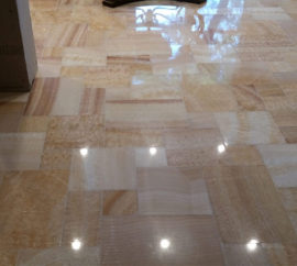 Post-Installation Restoration of Onyx Floor
