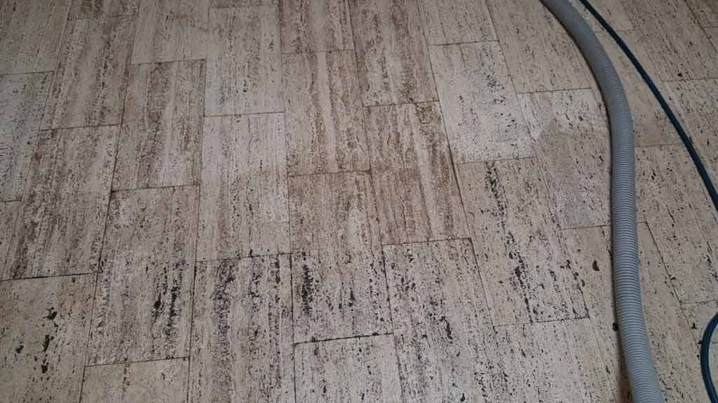 Partially Cleaned Travertine