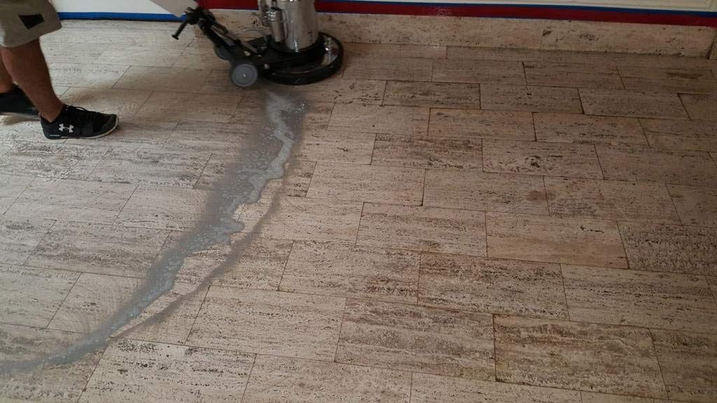 Travertine Scrubbing