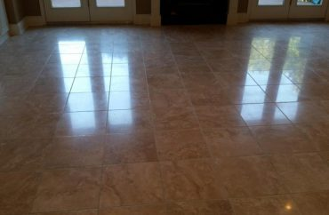 Travertine Living Room After