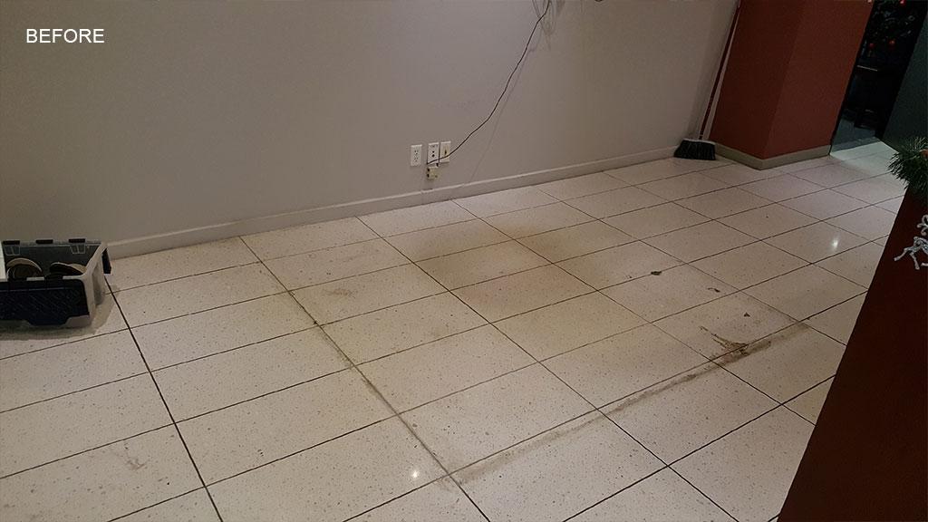 Damaged Terrazzo Floor