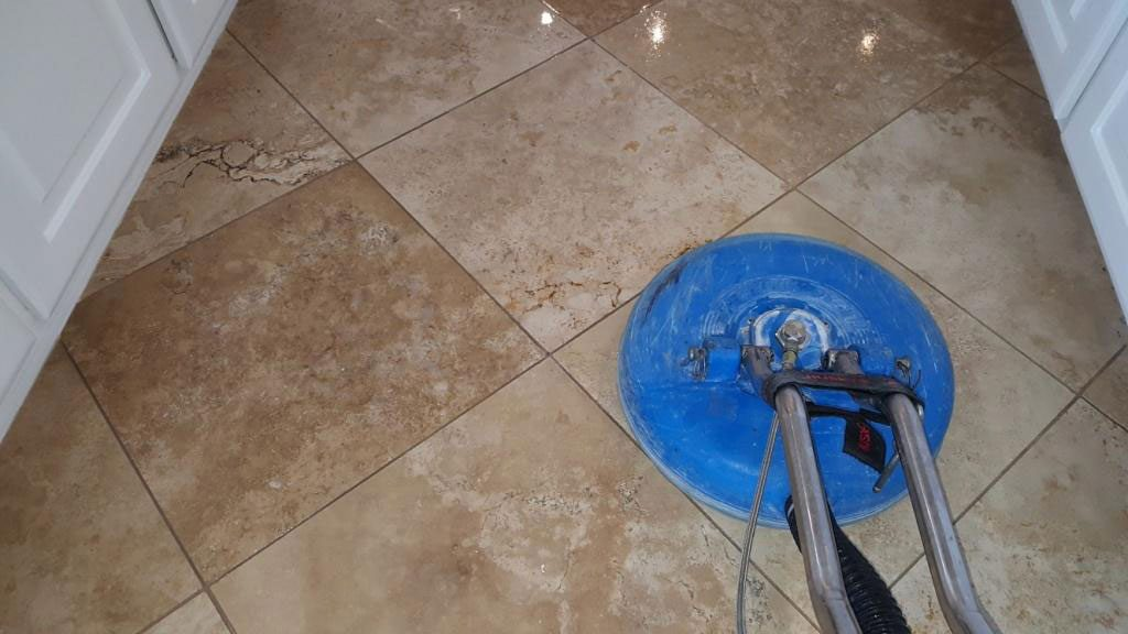 Travertine Cleaning Extraction System