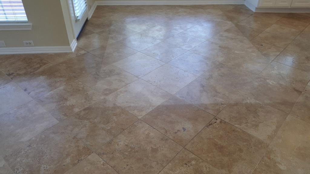 Professional Honed Travertine Floor Cleaning Service