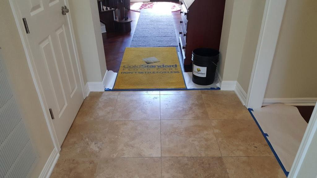 Honed Travertine Floor Cleaning