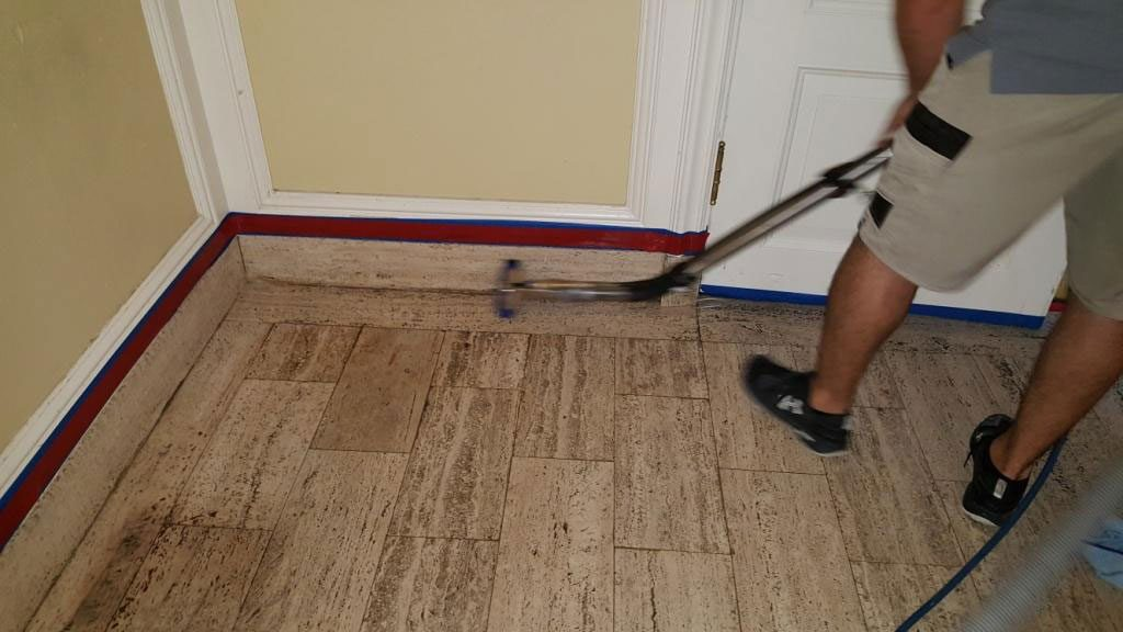 Travertine Cleaning Honing And Sealing Austin Texas