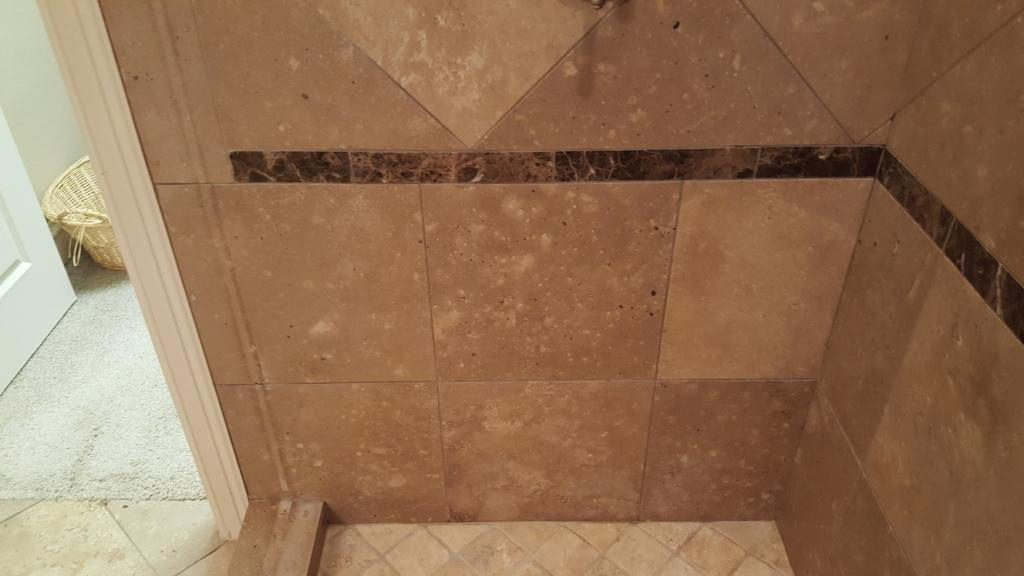 Travertine Cleaned and Restored