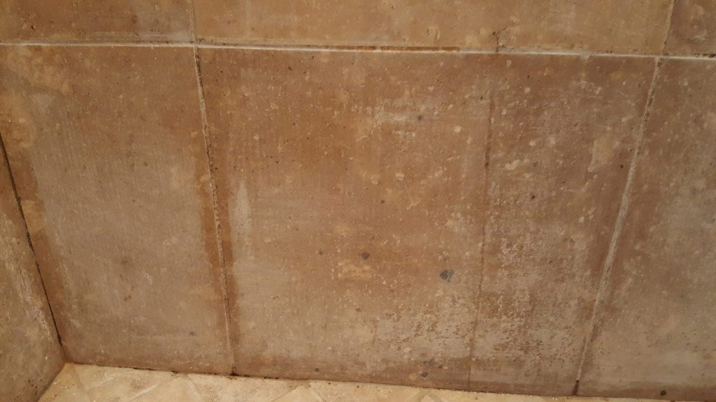 Travertine Shower Before